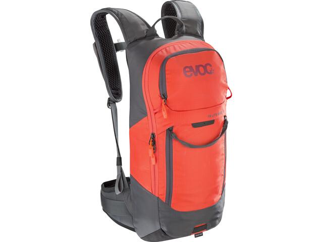 EVOC FR Lite Race Protector Backpack 10l, carbon grey/orange